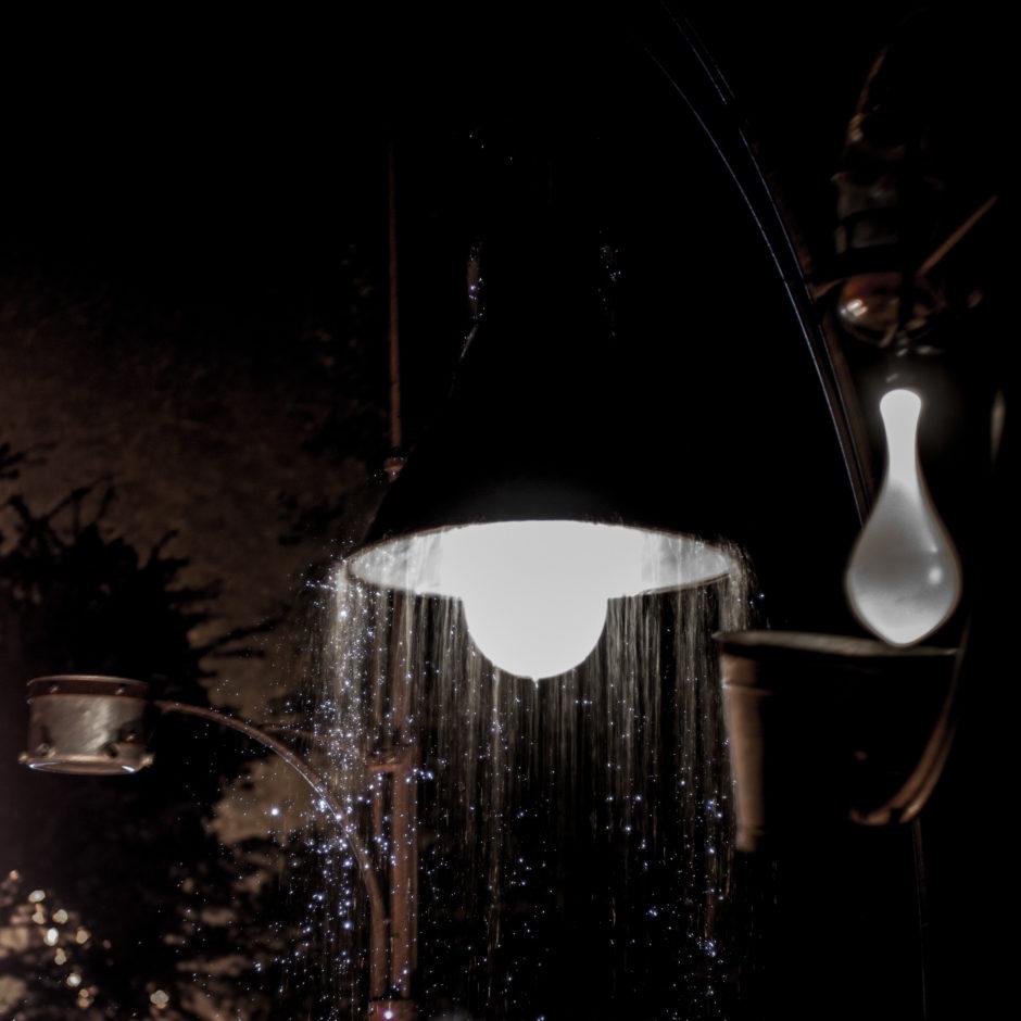 Lampen im Regen