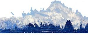 Mt. McKinley am Nenana-River, Alaska (von Talkeetna aus)