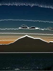 Sonnenaufgang am Pico del Teide, Teneriffa (von La Palma fotografiert)