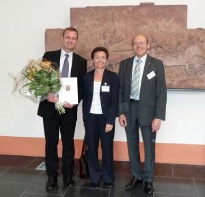 Dr. Claudia Gomez-Tutor (Leiterin des ZfL Kaiserslautern) und Herr Prof. Litz (Vizepräsident der TU Kaiserslautern)